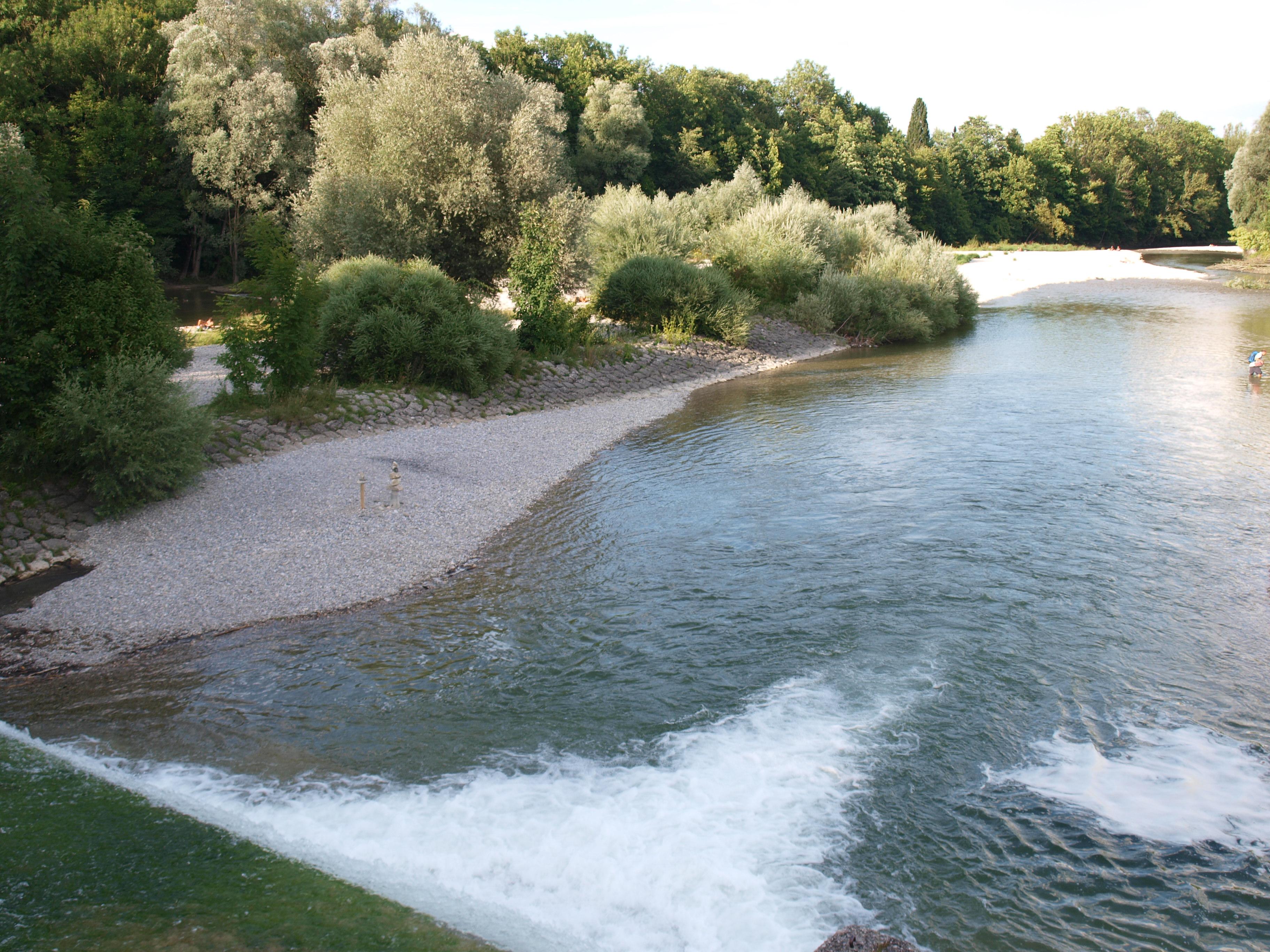 Wasserfall der Isar, Flaucher
